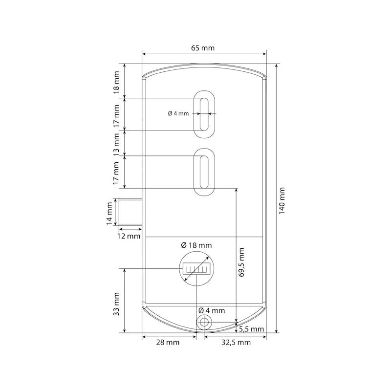 Elektronisches RFID-Zahlenkombinationsschloss TwinPad - 5