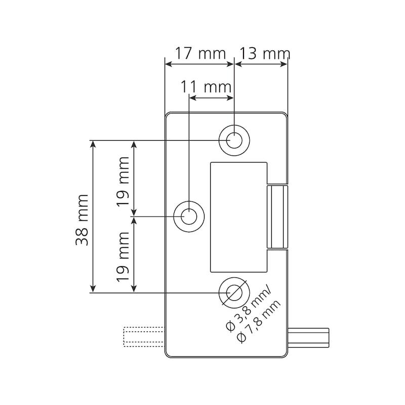 Elektronisches RFID-Zahlenkombinationsschloss TwinPad - 8