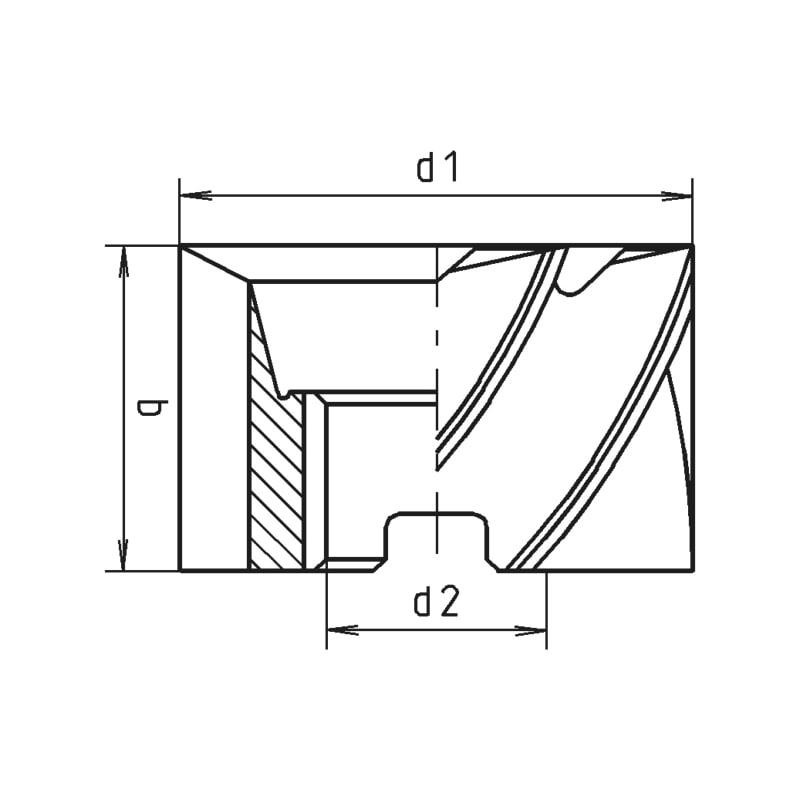 Walzenstirnfräser HSCo DIN 1880 Typ N - 2