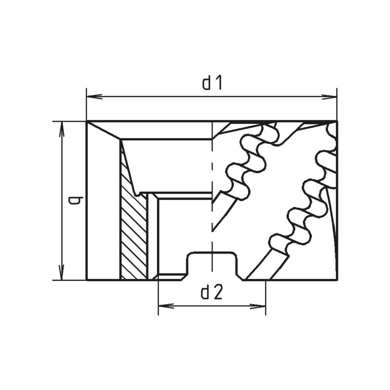 Walzenstirnfräser HSCo DIN 841 Typ NF - 2