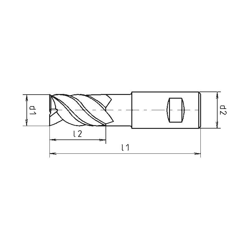 STC-Schaftfräser Speedtwister-Universal, extra lang XL, Fünfschneider, ungleiche Drallsteigung, 5xD - 2