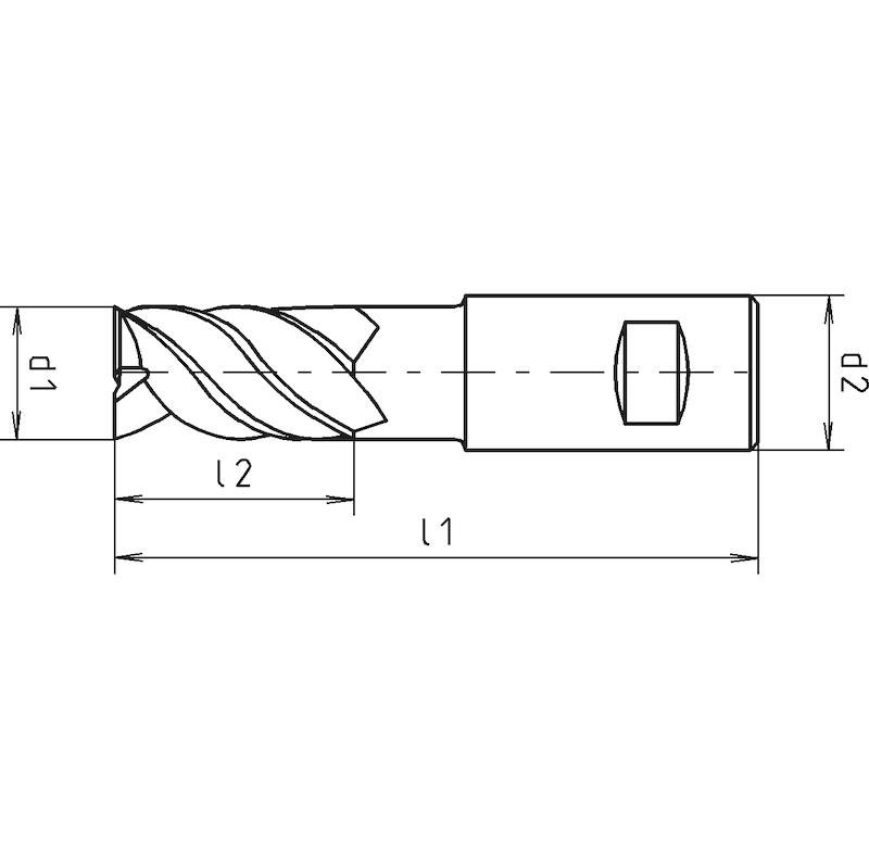 Schaftfräser HPC Speedcut 4.0-Inox, DIN 6527L, lang, Vierschneider, ungleiche Drallsteigung - 2