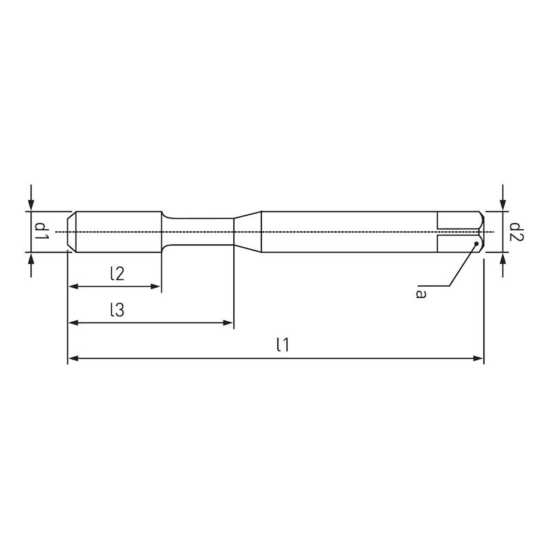 Maschinengewindeformer Speedtap–Inox, mit Ölnuten, für metrisches ISO-Feingewinde DIN 13 - 2