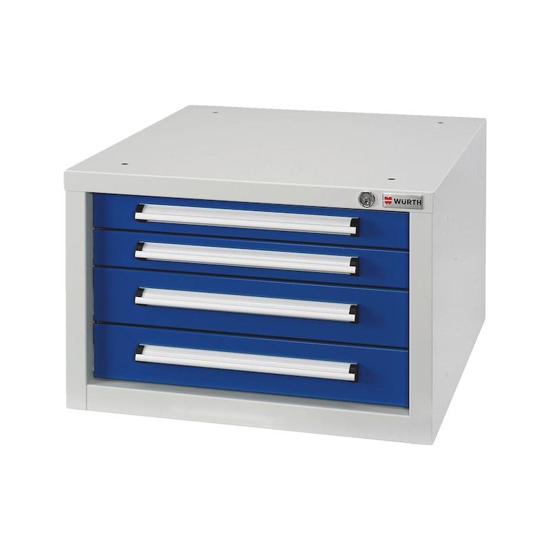 Schubladenkasten BASIC - SLSHRNK-BASIC-USK4-RAL5010/RAL7035