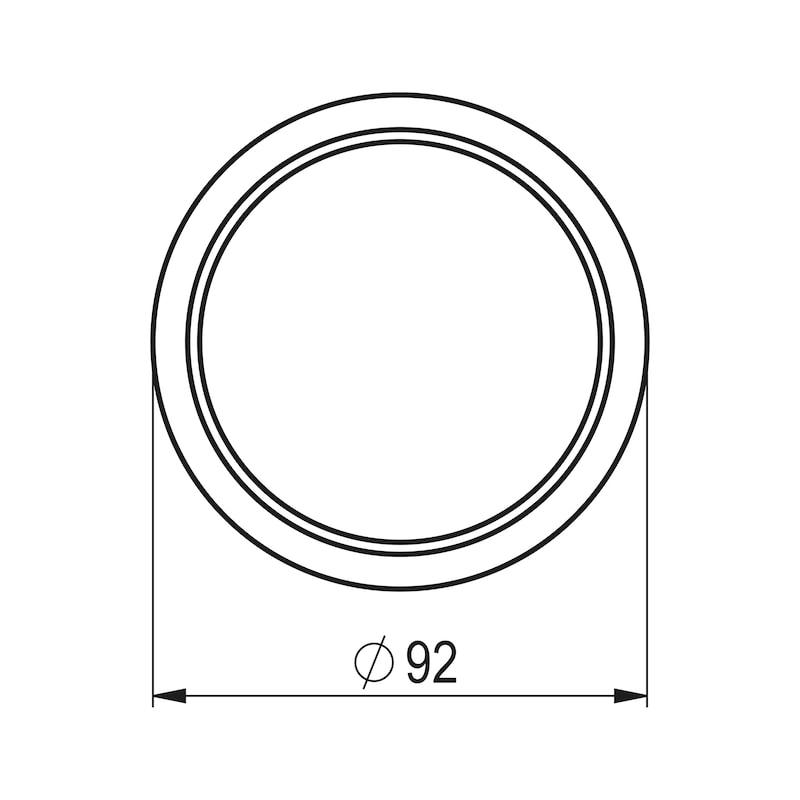 Kabeldurchlass rund zweiteilig - ZB-KBLDURCHLASS-SHREIBTI-NICKEL/SA-D80MM