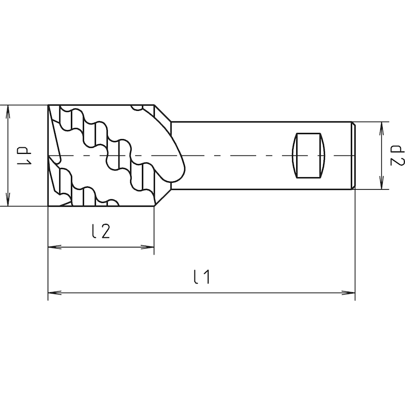 Kurzschaftfräser HSCo8 - 2
