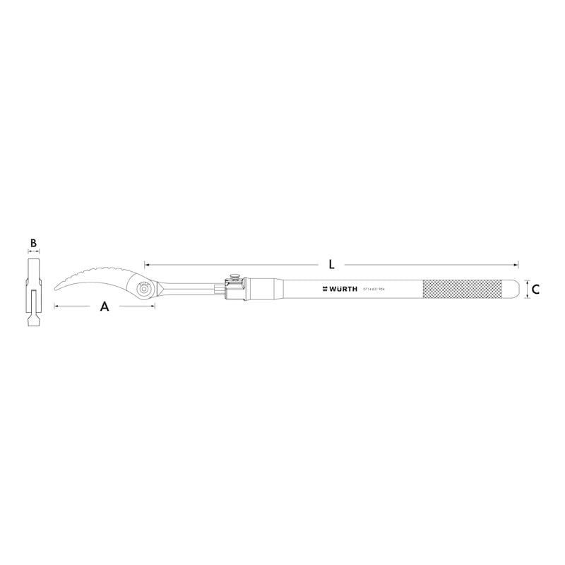 Pry bar Flex head extendable - PNCHBAR-EXTENDABLE-(L525-825MM)
