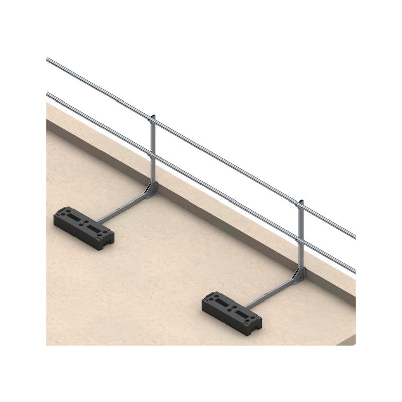 Dachgeländersystem ohne Fußleiste