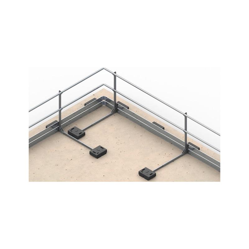 Dachgeländersysteme mit Fußleiste