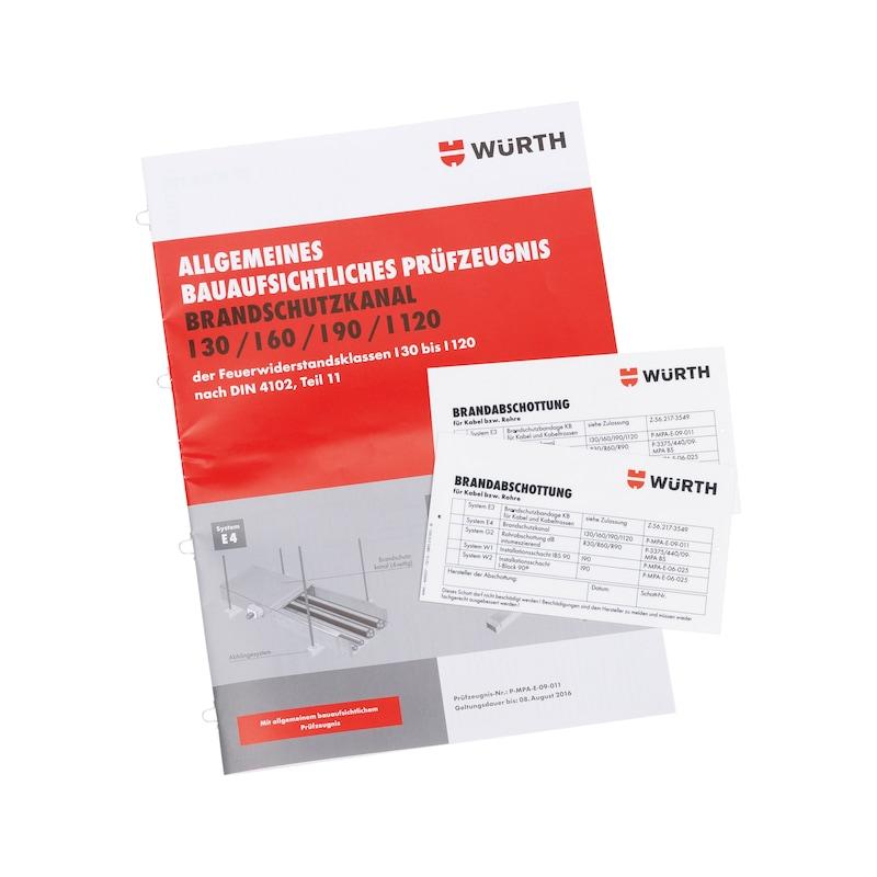 Montage-Set für Brandschutzkanal I30 / I60 / I90 / I120