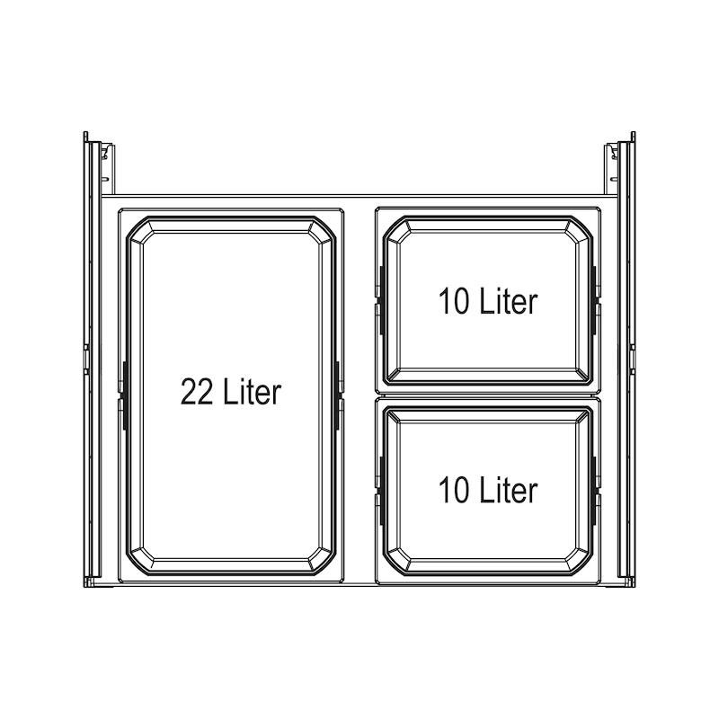 Sistema de recolha seletiva Öko-Liner - OKO-LINER EXT FRONTAL 38  600MM