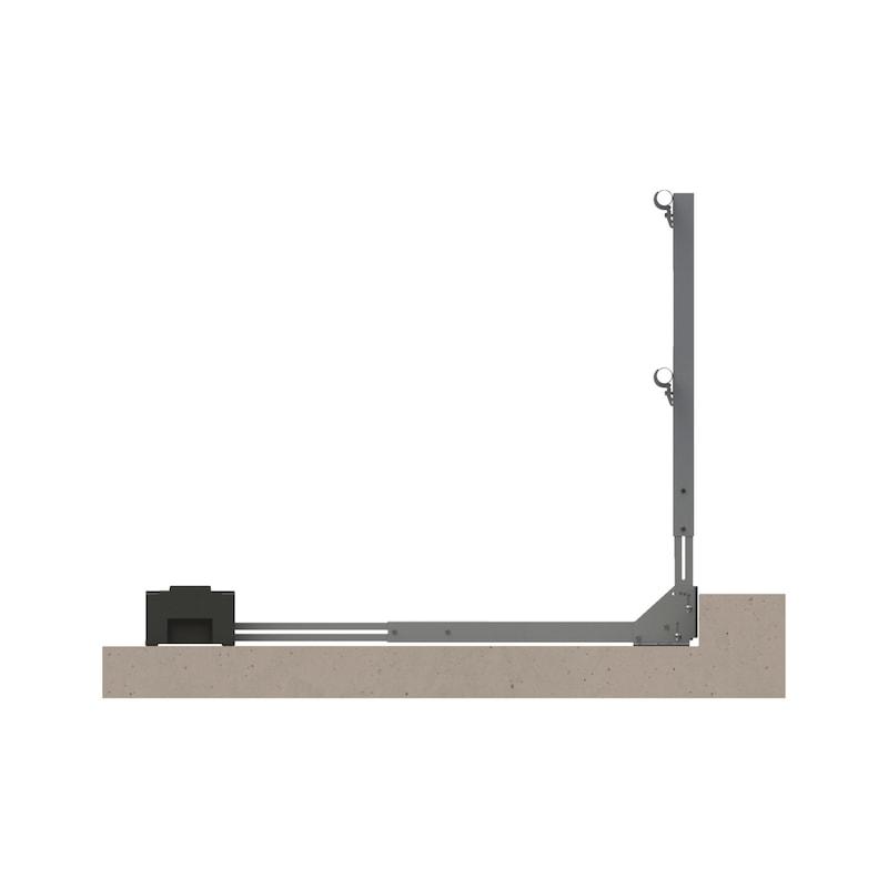 Dachgeländersystem PLUS ohne Fußleiste