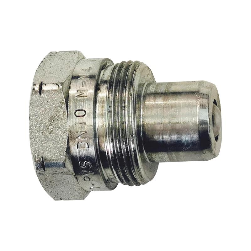 Hydraulik-Anschlüsse-Schlauchseite mit Innengewinde und Schraubkupplung - 1
