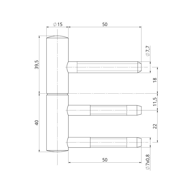 Bremsband-Set für Holzzargen - 2