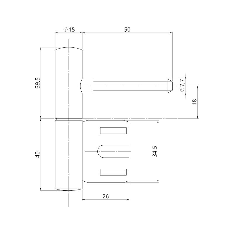 Bremsband-Set für Metallzargen - 2