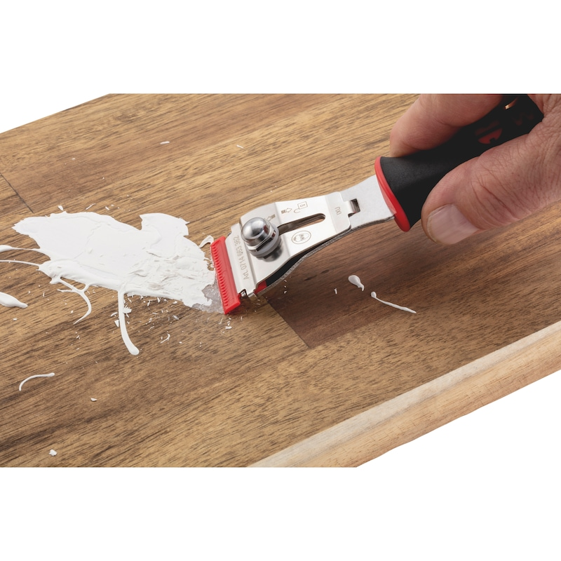 Blade scraper with quick lock set - 6