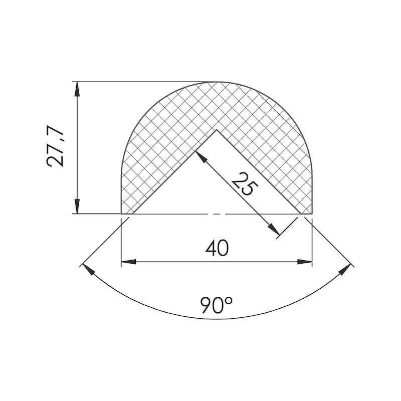 Warn- und Schutzprofil rund/eckig für 90°-Winkel - 2
