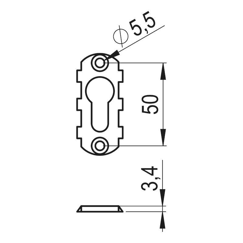 Ovalblindrosette AL außen - 2