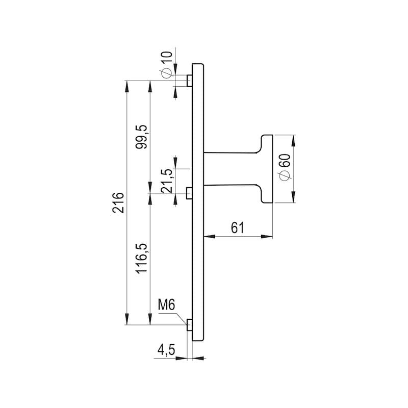 Griffplatte Auf Außenschild - TD-ALU-AUSSHILD-GRIFFPL-PZ-92-8-216-F1