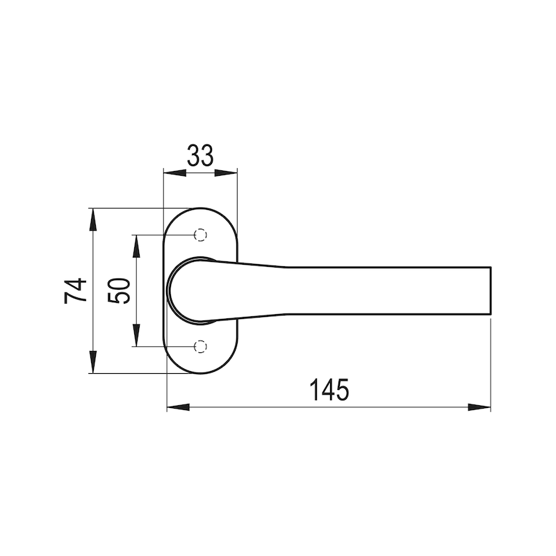 Türdrücker AL 900 - TD-ALU-AL900-OVAL-ROS-L/R-F9/(A2-OPTIK)