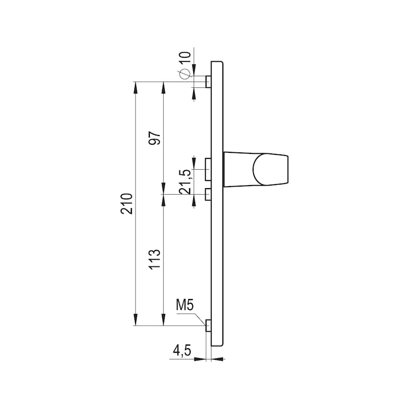 Türdrücker A 900 auf Aussenschild - 3