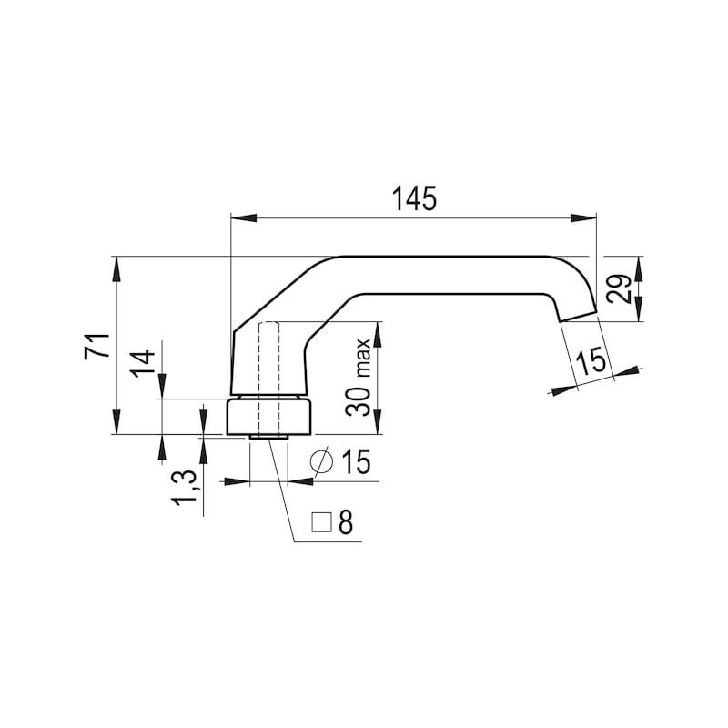 Türdrücker AL 920 - TD-ALU-AL920-OVAL-ROS-L/R-WEISS-RAL9016