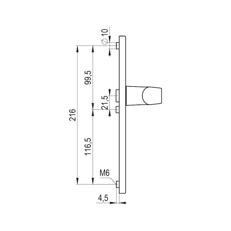 Türdrücker AL 900 auf Außenschild - TD-ALU-AL900-AUSSHILD-D-PZ-92-8-210-WEIS