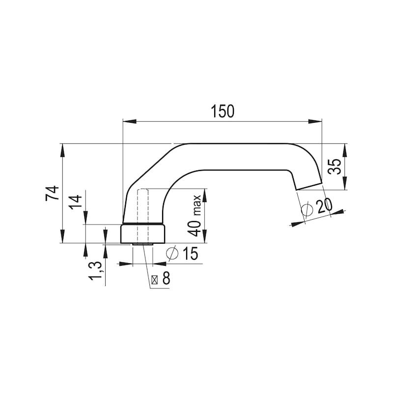 Türdrücker AL 930 - TD-ALU-AL930-OVAL-ROS-L/R-WEISS-RAL9016