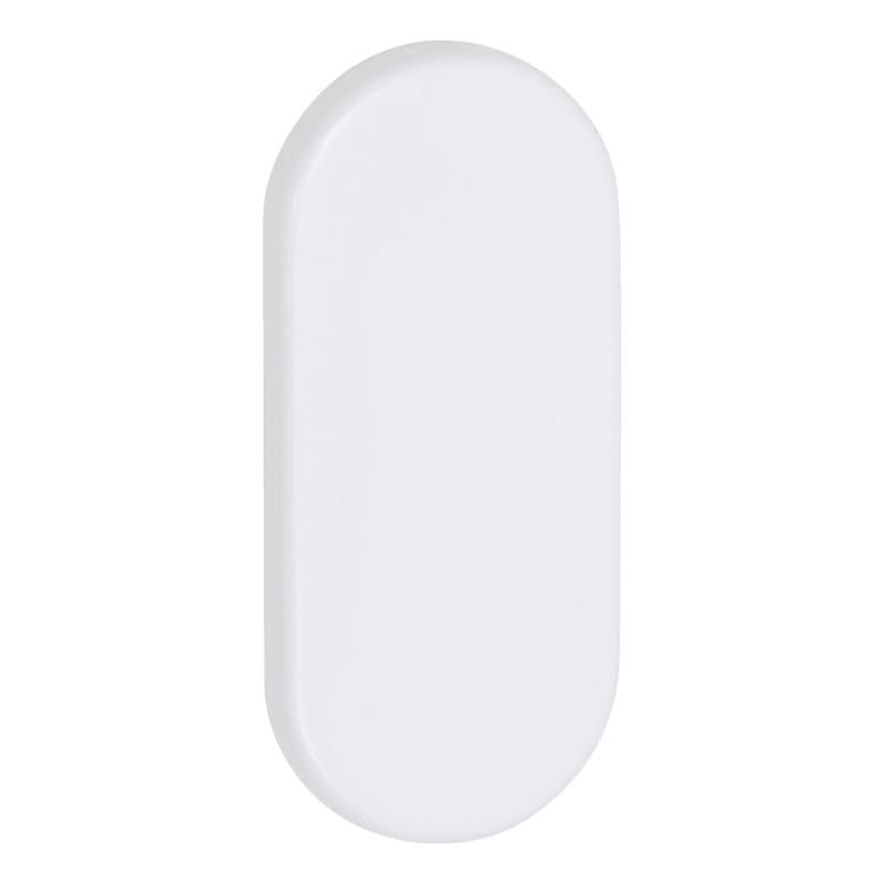 Ovalblindrosette - TD-ALU-OVAL-ROS-BLIND-INNEN-9MM-WEISS