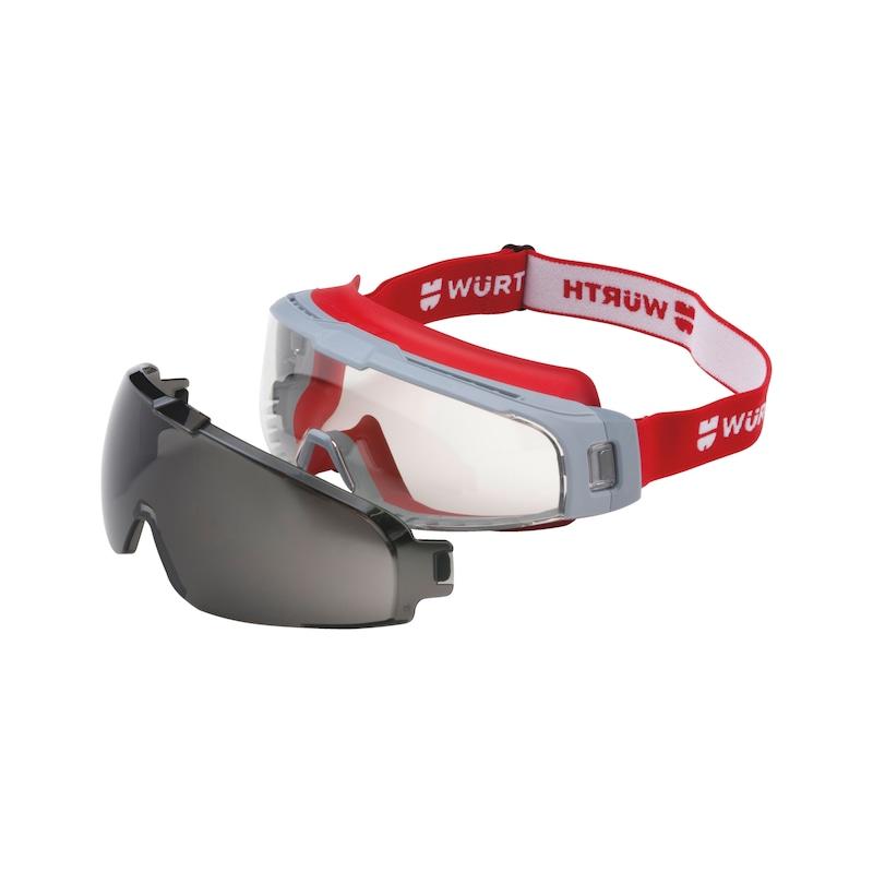 Vollsichtbrille Scorpius mit Sonnenschutz-Vorsatzscheibe - 2