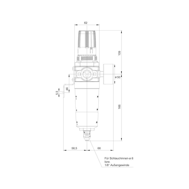 Basınçlı hava şartlandırıcı Boyut 2 - SU TUTUCU-YAĞLAYICI-ŞARTLANDIRICI-1/2I