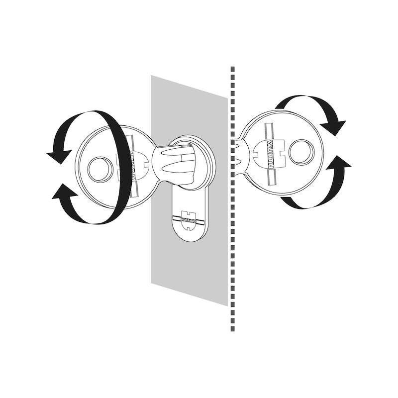 Profil-Doppelzylinder NP - PRFLZYL-NP-DP-5STI-GS1-(NI)-BS-46X46MM