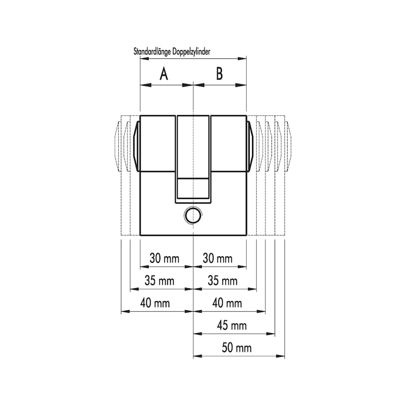 Profilzylinder S5 Eco - PRFLZYL-ECO-DP-5STI-(NI)-30X35MM
