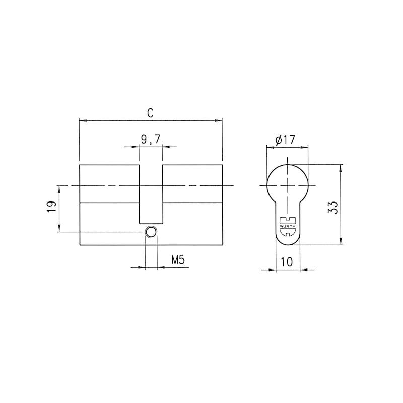 Profil-Blindzylinder - 2