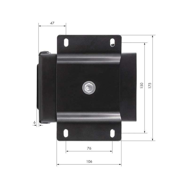 PC-Halterung 360° für Tisch- und Wandbefestigung - 2