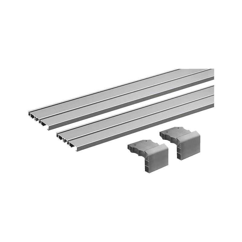 Doppellaufschienen-Set einliegend SlideLine M - 1
