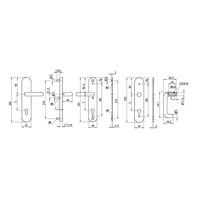 Edelstahl-Schutzbeschlag  S 501 - 2