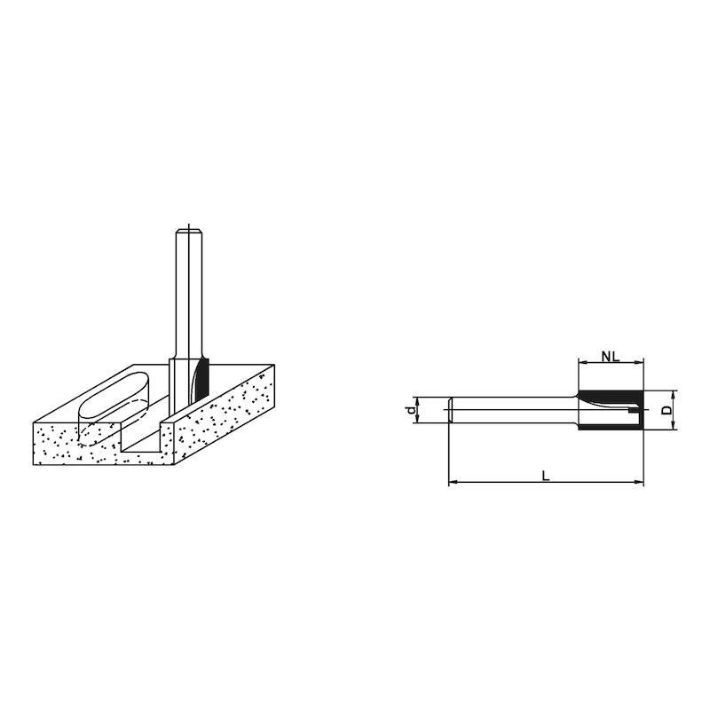 Frese per legno Utensile da taglio per scanalatura con punta di taglio - 2