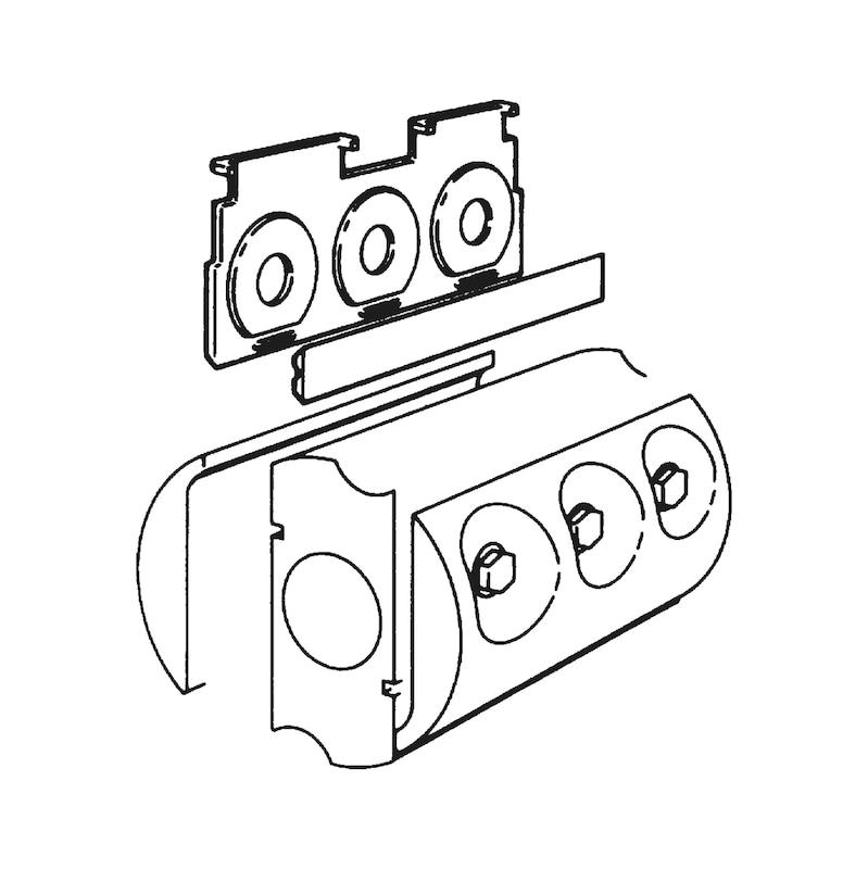 Lâmina reversível de carboneto - LAMINA P/PLAINA