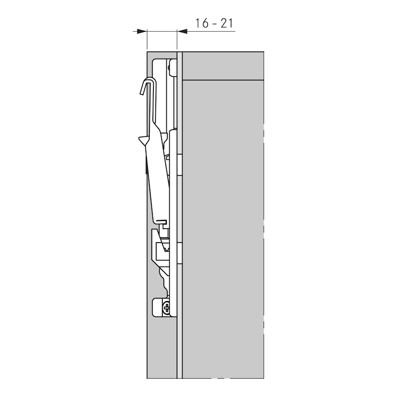 Cabinet hanger SH-64, invisible - 12