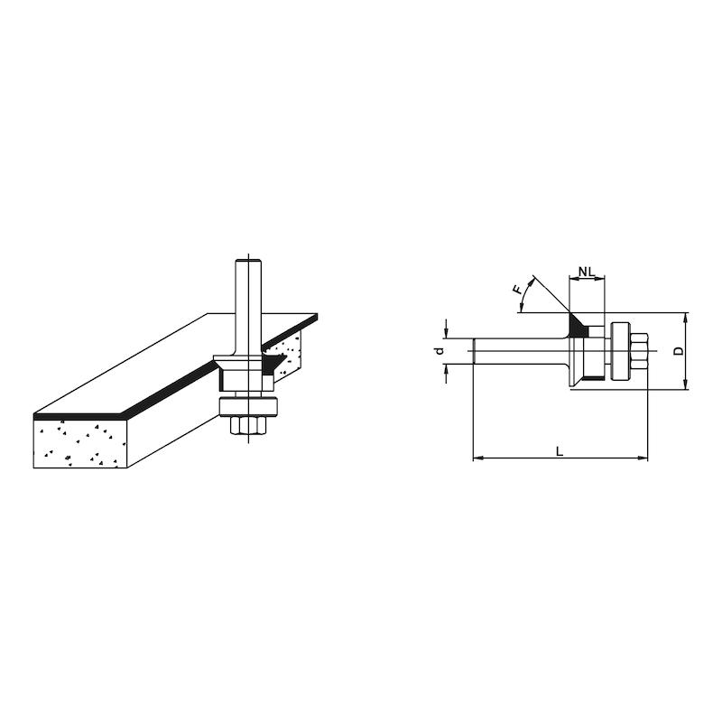 Holzfräser Fase-Bündigfräser mit Kugellager - 2