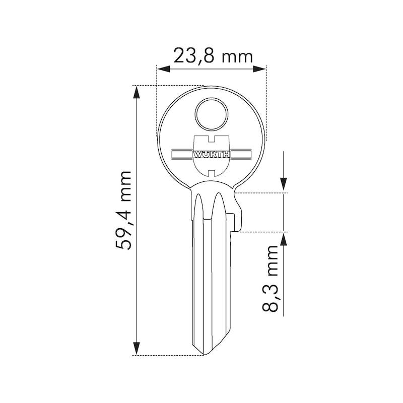 Schlüsselrohling - 2