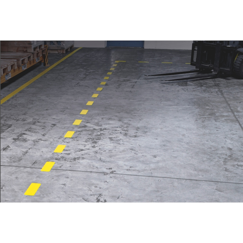 Bodenmarkierung Heavy Duty Streifen auf Rolle - 3