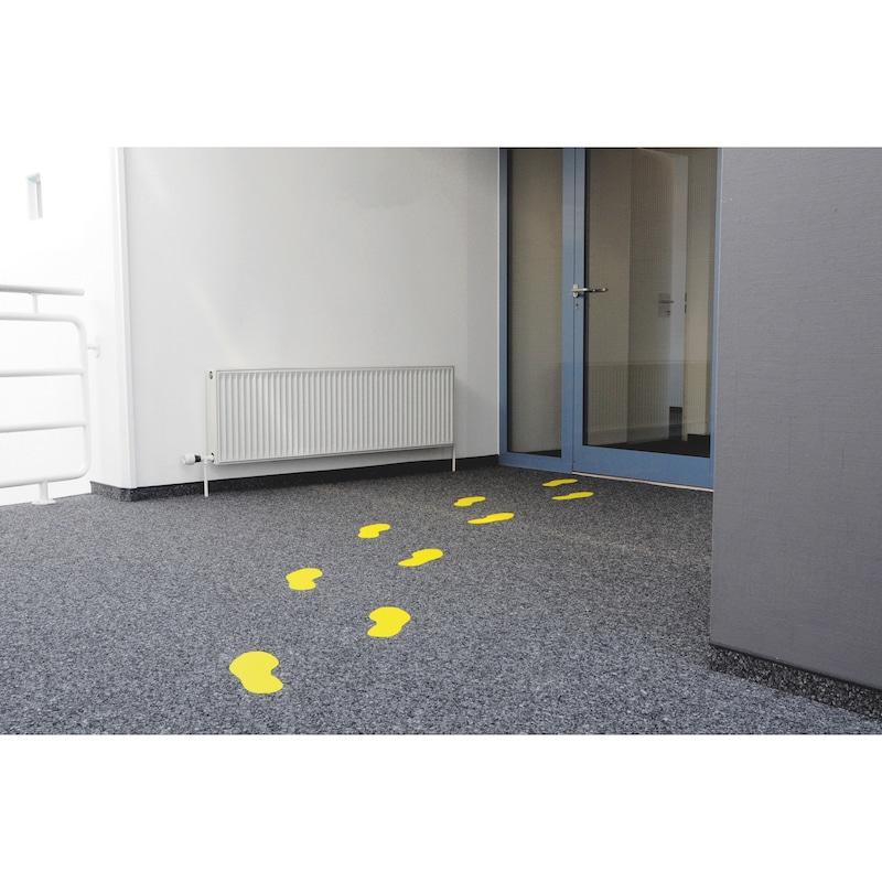 Bodenmarkierung Heavy Duty Fußabdruck - BODMARK-FUßABDRUCK-FORM-HD-GELB-PAAR