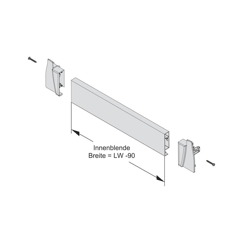 Blendenprofil für Innenschubkasten  - 3