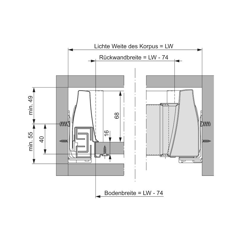 Blendenprofil für Innenschubkasten  - 2