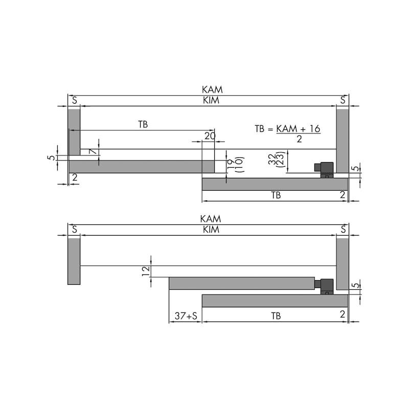 Schiebetürbeschlag-Set Redoslide M15-HV - 6