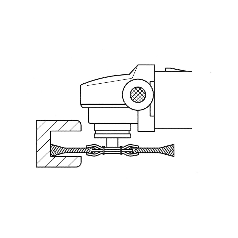Brosses rondes (acier) - BROSSE ROTAT-CIRC- ALES-22 115X0,5M