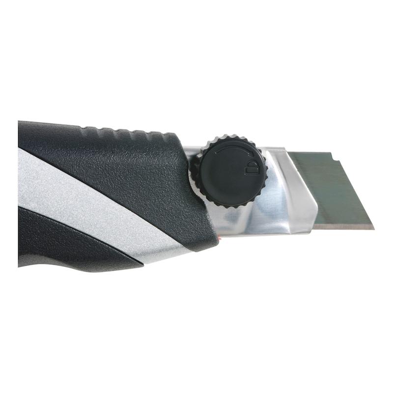 3K-Cutter-Messer mit Schieber - CUTTER-3K-KLIKLEMMUNG-H18MM-L170MM