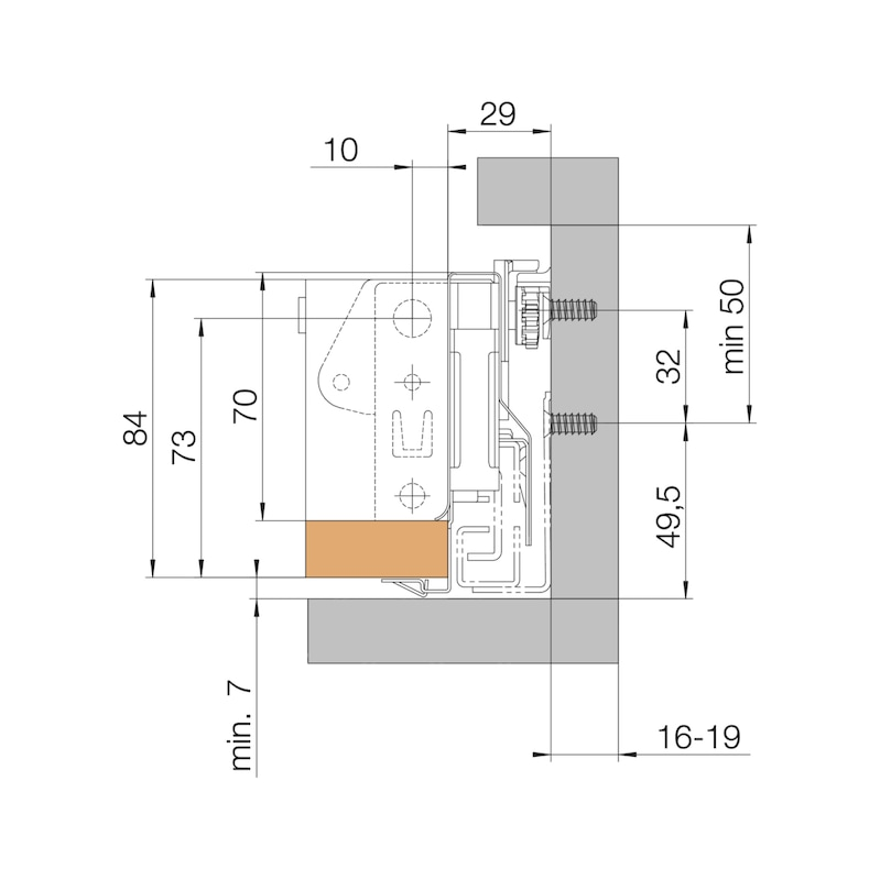 Seitenstabilisator Nova Pro - ZB-STANGE/LGRBLCK/RITZ-KB900MM
